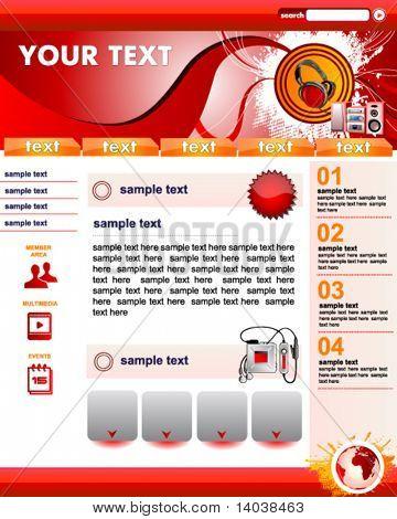 music web site template