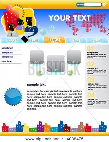 corporate web site template