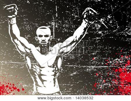 cartaz de boxe