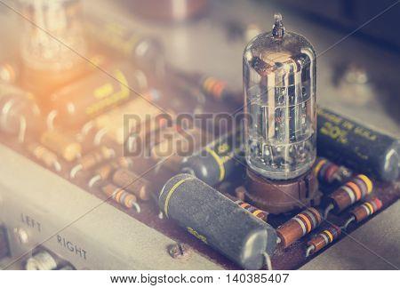 Vintage tube bulb used in Audio hifi in vintage tone