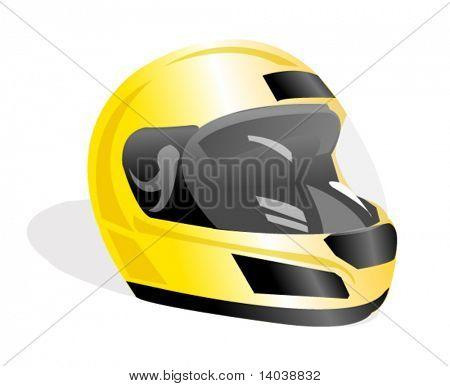 vector racing helmet