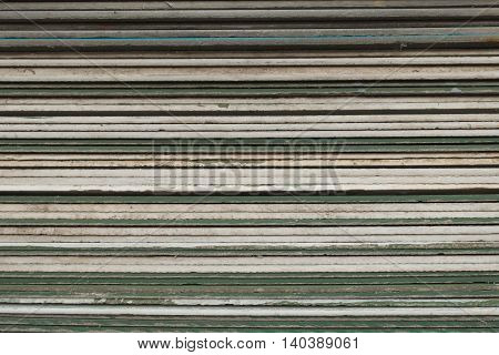 The stack of gypsum board preparing for construction background