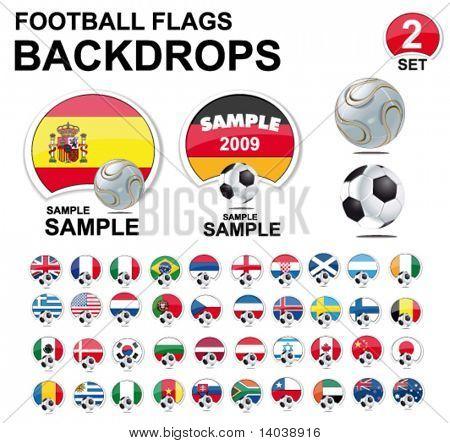 football flags design elements