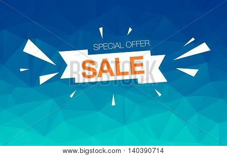 Super Sale card template on colored background