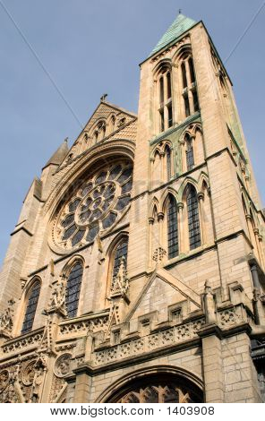 Close Up Of The Architectural Detail Of Truro Cathedral.