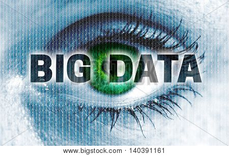 Big Data Eye Looks At Viewer Concept