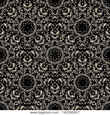 Seamless pattern. Abstract lacy ornament. Vector geometric art background
