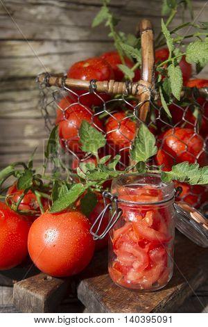 Jar Of Tomato Pieces