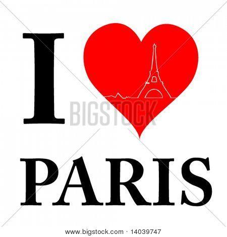 love paris sign