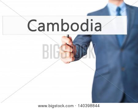 Cambodia - Business Man Showing Sign