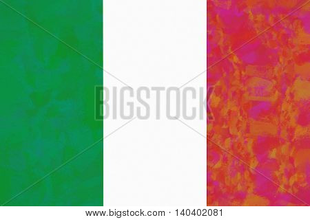 Illustration of the national flag of Italy with a colorful effect
