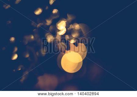 Defocused Circular Bokeh Background