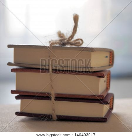 Three Small Books with a Twine. Back to School.
