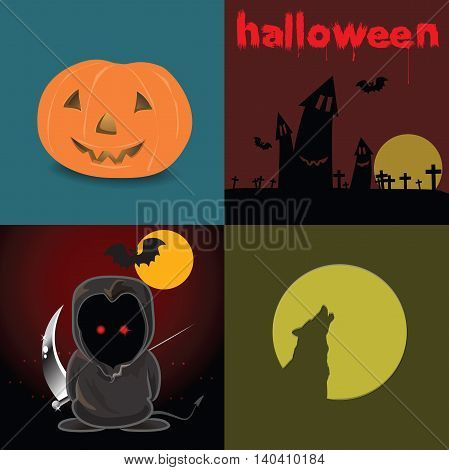 Graphic design element for holiday on Halloween day.