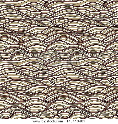 Seamless pattern vector abstract waves texture. Colorful sea background can be used for wallpaper pattern fills web page background surface textures print on fabric
