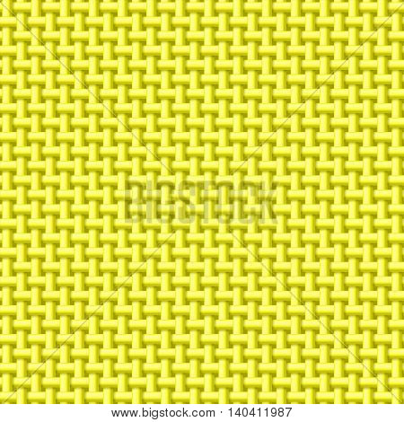 Seamless pattern of yellow cloth. Abstract fabric background
