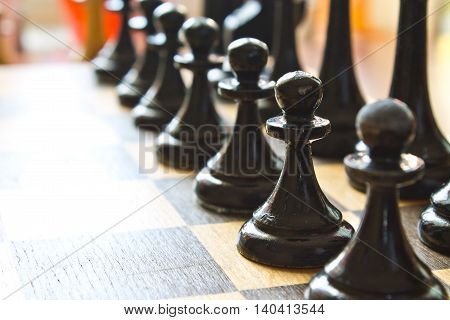 Chess Game Closeup Abstraction