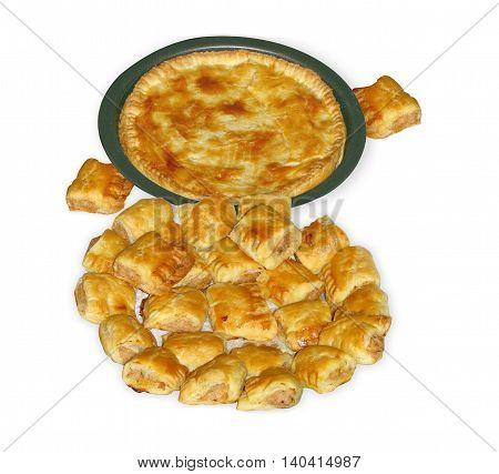 Chicken Pie And Pork Sausage Rolls 02