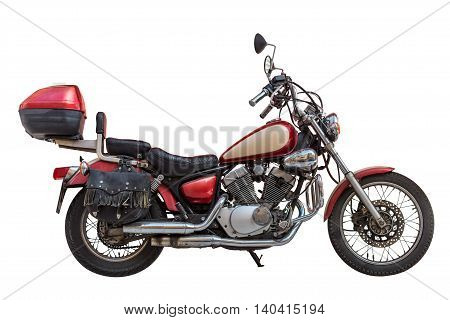 image of motorcycle isolated on white background
