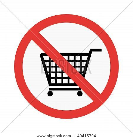 No take basket sign vector illustration isolated on white