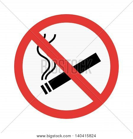 No smoke sign vector illustration isolated on white