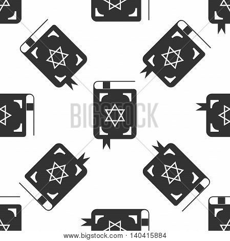 Jewish torah book icon pattern on white background. Adobe illustrator