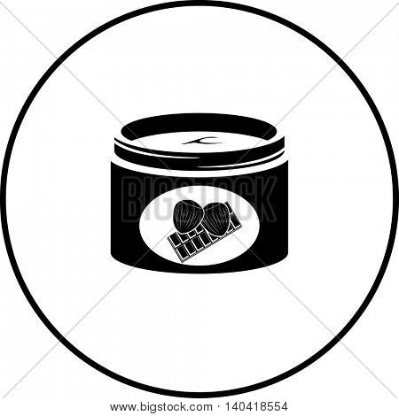 hazelnut and chocolate cream jar symbol