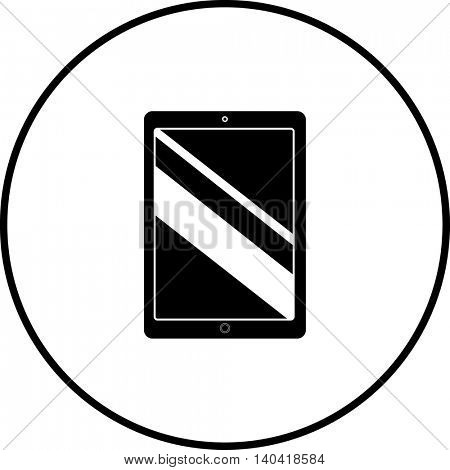 tablet mobile device symbol