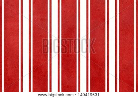 Watercolor Red Striped Background.