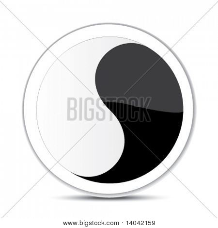abstract sign - yin yang