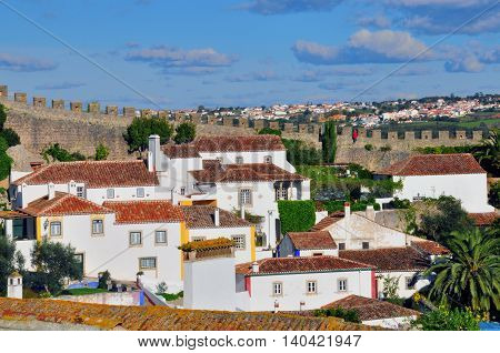 Obidos village in central part of Portugal
