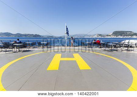 Helipad On A Ship