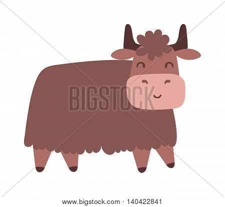 Quality brown bull vector silhouettes standing and ready to charge. Bull corrida cow ranch mascot male animal, run horn. Bull domestic danger mascot, angry strong farm animal.