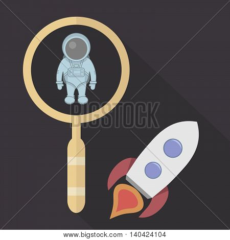 Search astronaut to work on a spaceship