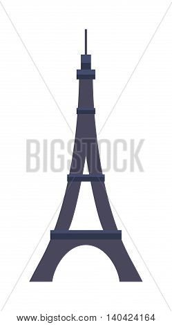 Eiffel Tower, Paris eiffel tower. France eiffel tower vector. Eiffel tower europe landmark architecture travel and tourism monument eiffel tower. Famous construction structure eiffel tower.
