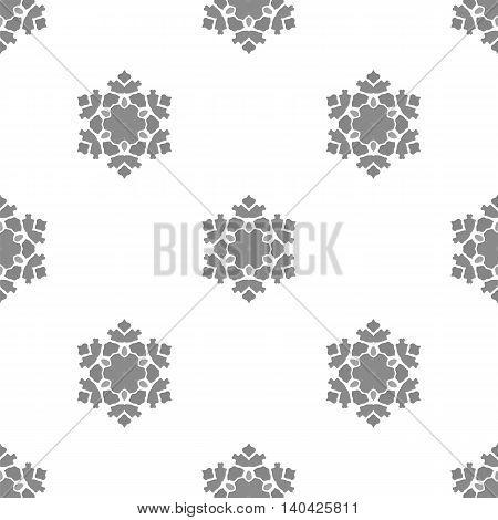 Creative Ornamental Seamless Grey Pattern. Geometric Decorative Background