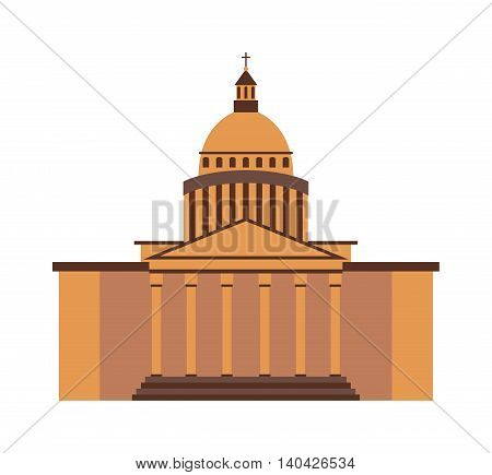 Famous building travel architecture landmark and city symbol monument famous building. Tourist urban landscape famous building and european capital traditional famous building national heritage.