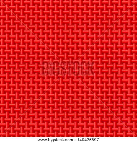 Seamless pattern of red cloth. Abstract fabric background