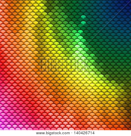 Abstract scales pattern in spectrum colors. Textured background
