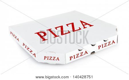 Pizza box, isolated on white