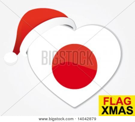Christmas Herz Flagge Japan