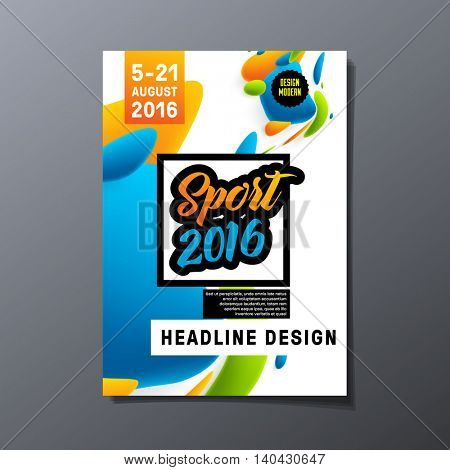 Summer sport 2016 concept template, Design for brochure, website, book or flyers.