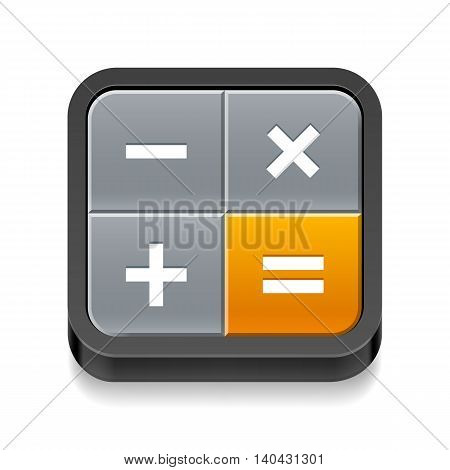 Calculator icon with four buttons on white background