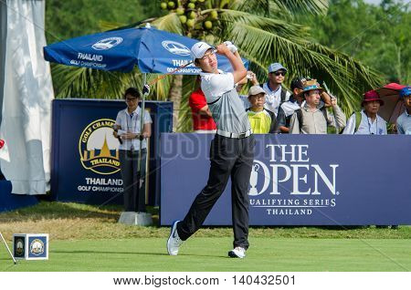 CHONBURI - DECEMBER 13 : Jin Cheng (A) of China player in Thailand Golf Championship 2015 at Amata Spring Country Club on December 13 2015 in Chonburi Thailand.