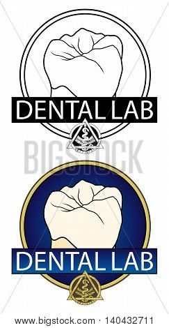 Dental Lab Design is an Illustration of a design for a Dental Lab or any dental related business. Includes teeth graphics, a dentistry symbol and comes in a black and white and full color version.
