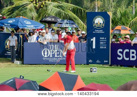 CHONBURI - DECEMBER 13 : Sam Braze of Australia player in Thailand Golf Championship 2015 at Amata Spring Country Club on December 13 2015 in Chonburi Thailand.
