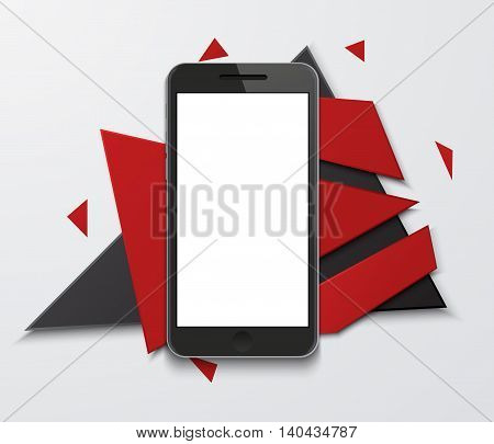 Vector modern smartphone creative banner background. Eps10