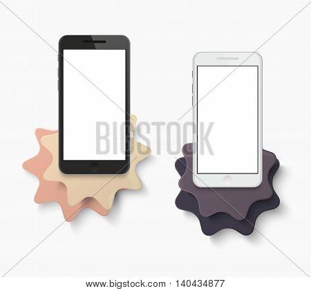 Vector modern smartphone creative banner background. Eps10