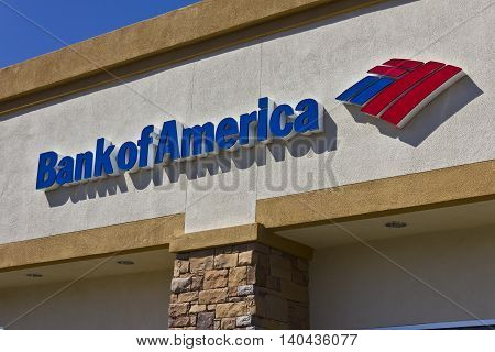 Las Vegas - Circa July 2016: Bank of America Bank and Loan Branch. Bank of America is a Banking and Financial Services Corporation III