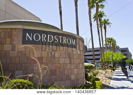 Las Vegas - Circa July 2016: Nordstrom Retail Mall Location. Nordstrom is Known for its Service and Fashion I